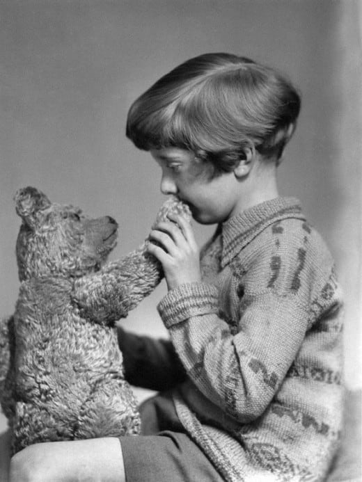 The real Winnie the Pooh and Christopher Robin, 1928
