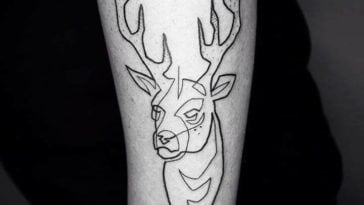 moganji1 1 364x205 - Tattoo Artist Uses One Continuous Line to Create a Beautifully Linear Tattoos