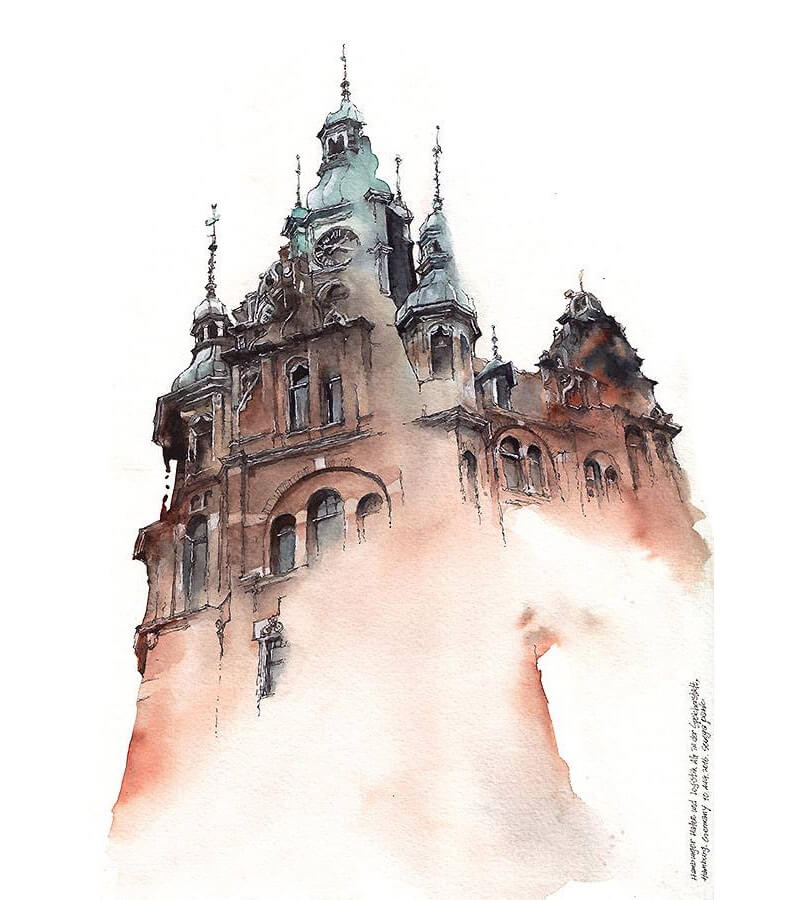 watercolors sunga park 00006 - Watercolor Architectural Landmarks by Artist Sunga Park