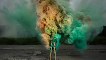 ken hermann fy 1 364x205 - Photographer Ken Hermann Captures The Colorful Clouds of Smoke Emerging from Industrial Environment